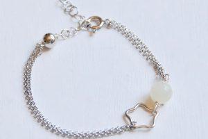 bracciale argento cancro pietra di luna