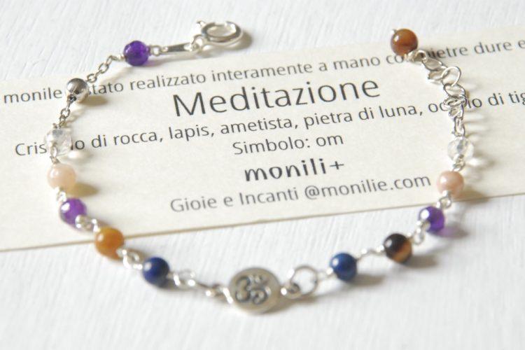 bracciale argento meditazione ohm