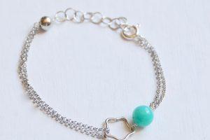 bracciale argento vergine amazzonite
