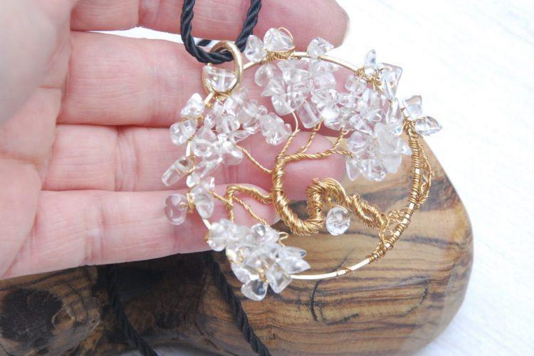 albero cristallo oro
