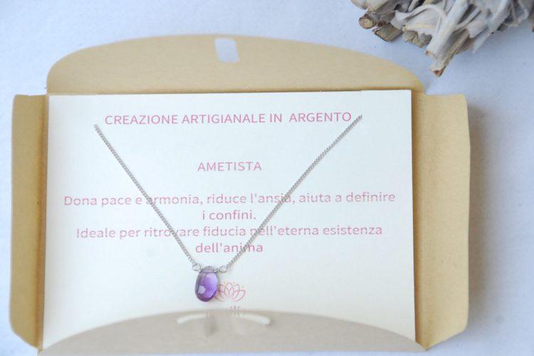 girocollo argento ametista