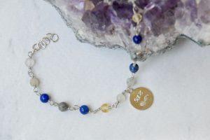 Bracciale argento pietre dure personalizzato talismano personale