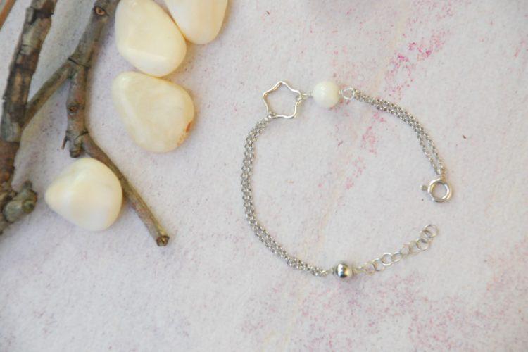 Bracciale argento Pesci opale