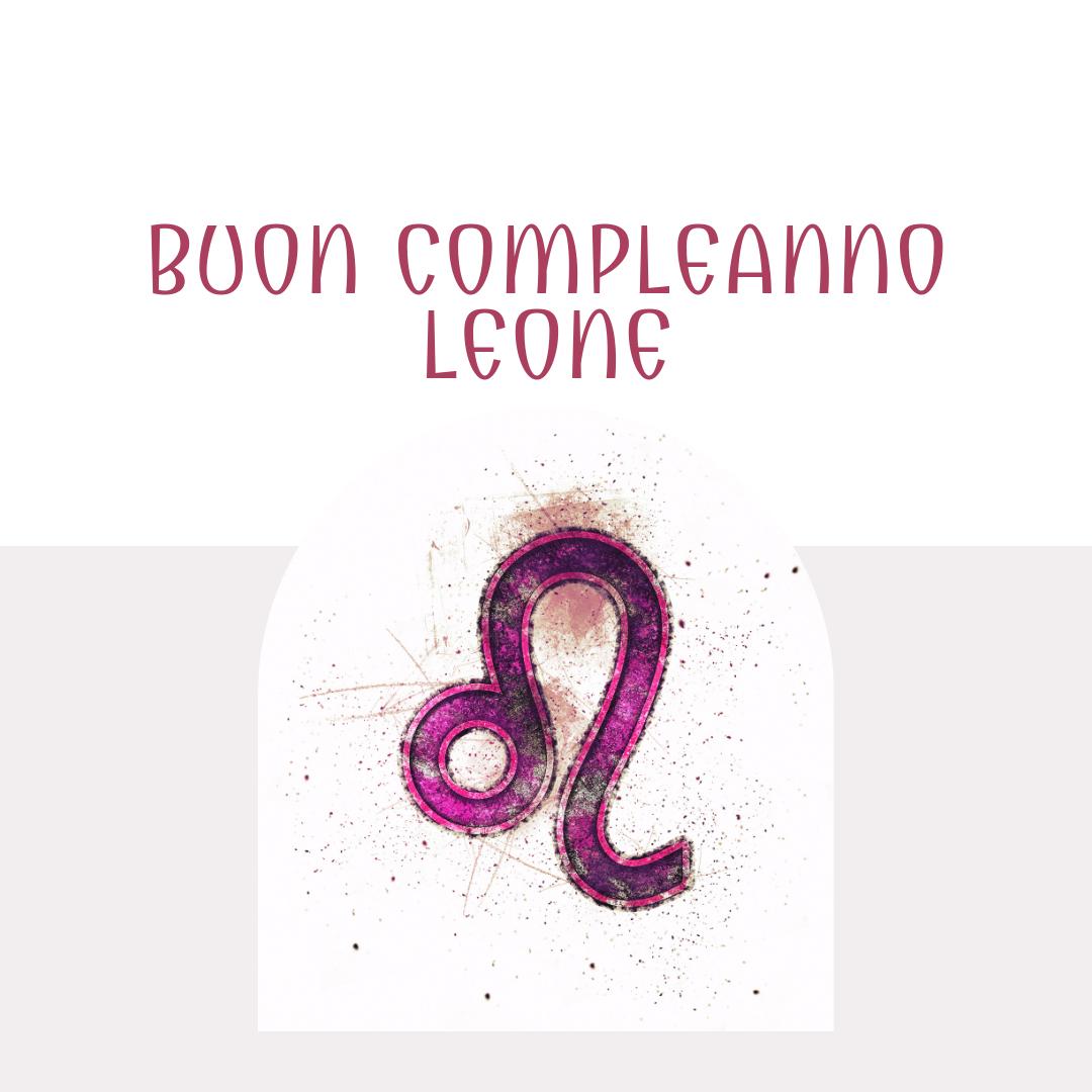 Buon compleanno Leone