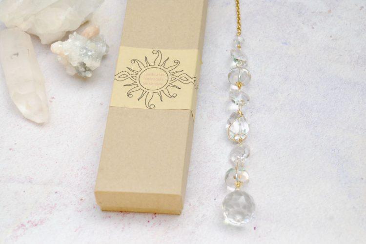 Acchiappa sole cristallo di rocca quarzo ialino trasparente