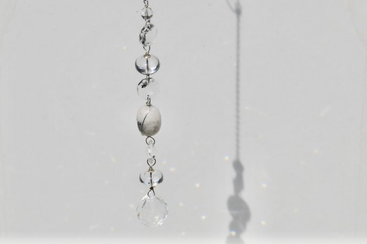 Acchiappasole cristallo di rocca quarzo trasparente ialino quarzo tormalinato